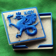 Picture of print of Kazan Federal University logo 15 puzzle