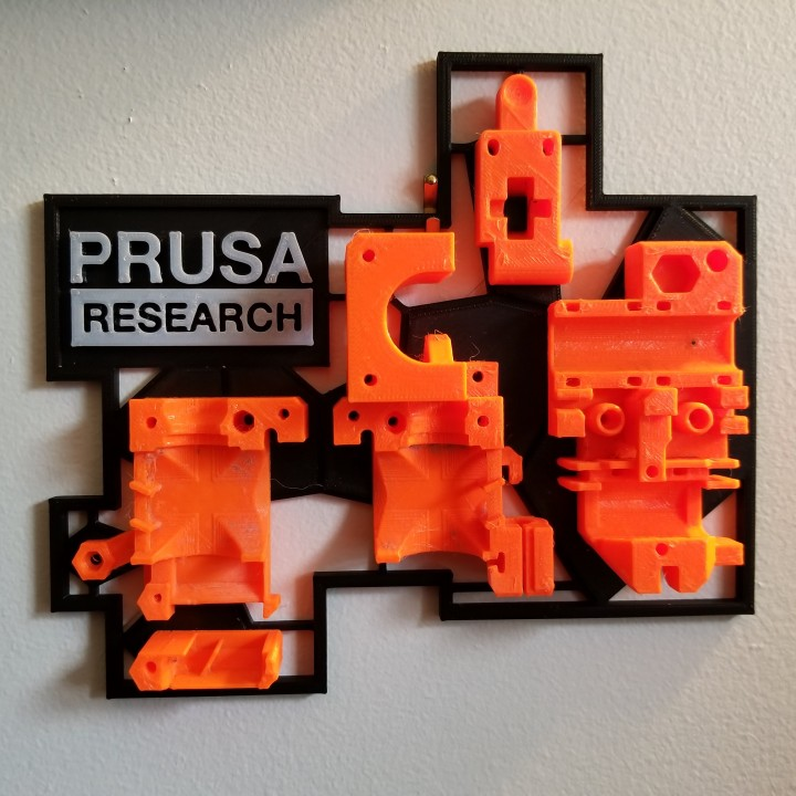 graphic about Prusa Printable Parts called 3D Printable Prusa MK2 Extruder Body Mount via Joel Bonasera