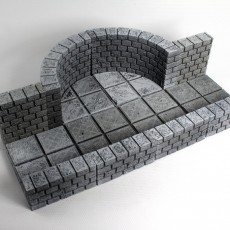 OpenForge Cut-Stone OpenLOCK Curved Walls