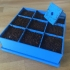 Seed germination tray with removable base and stamp image