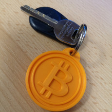 Picture of print of Bitcoin Keychain
