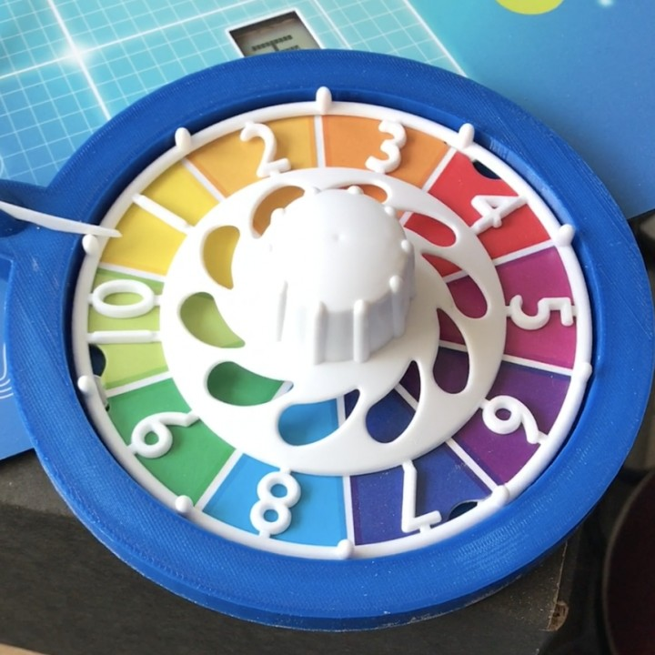 3d Printable Boardgame Game Of Life Wheel By Sam Mattiussi