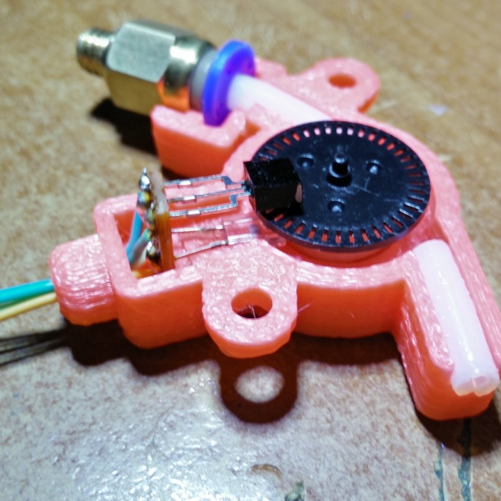 3D Printable Atmega8A-PU filament monitor with optical