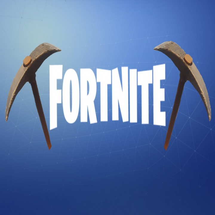 image relating to Fortnite Printable identified as 3D Printable Fortnite Default Pickaxe by way of Caleb Bentley