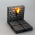 OpenForge Cut-Stone OpenLOCK Torch Wall image