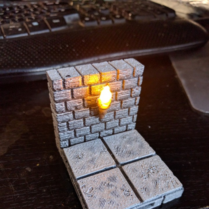 OpenForge Cut-Stone OpenLOCK Torch Wall