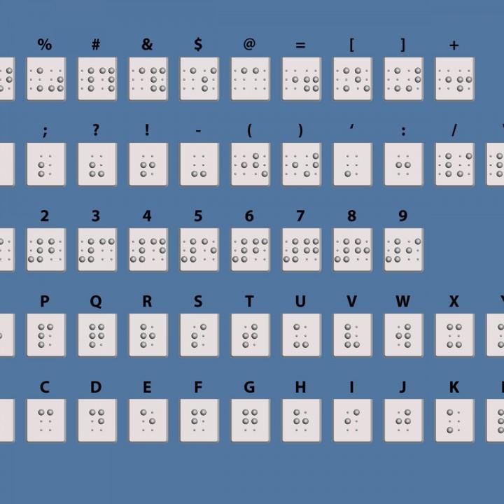 Braille Keyboard Covers Keys