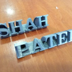 Picture of print of CUSTOMIZED DESK NAME