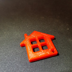 Picture of print of Home Shape Keychain