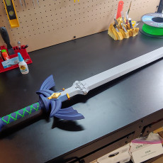 Picture of print of Master Sword botw flavor (without painting)