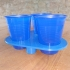 Disposable cup holder, for windy environments image