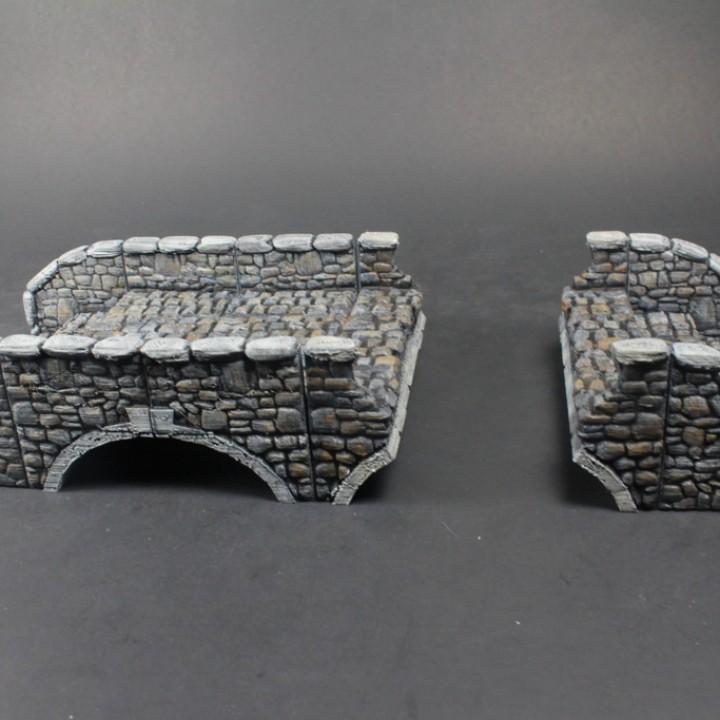 OpenLOCK Stone Bridge (Set 3) Broken Bridge