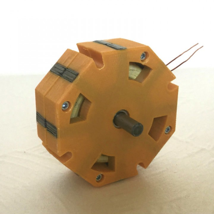 TFM 8 -  3d printed Transverse Flux Generator