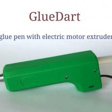 GlueDart. Glue pen with motor extruder case.