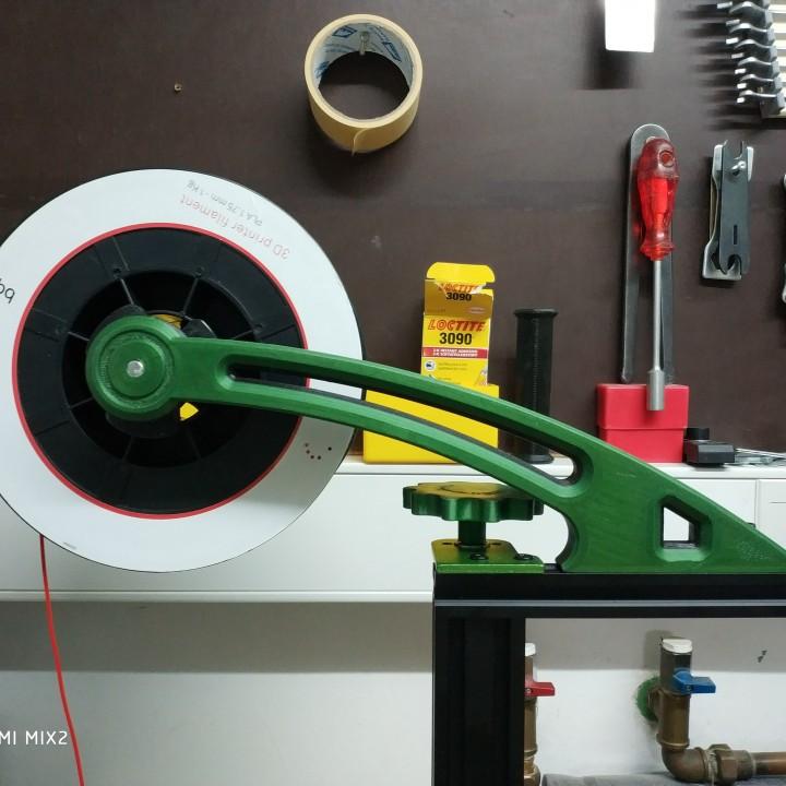 3D Printable Spool holder CR10 - TEVO TORNADO by Dusan Fras
