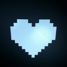 Picture of print of Heart pixel art