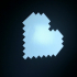 Heart pixel art print image