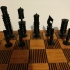 Mexican Pulpit Faces Chess Set image