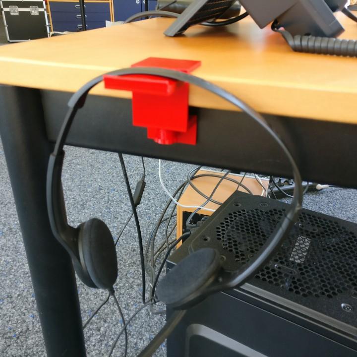 Headphone desk holder
