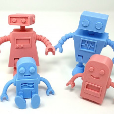 Picture of print of Robot Family Simple No Support Dieser Druck wurde hochgeladen von Tim Williamson