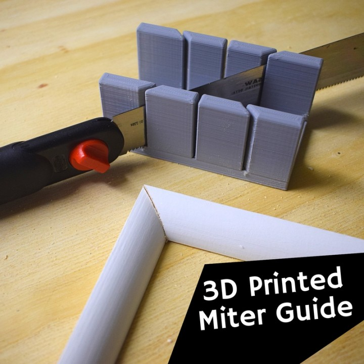 Miter Guide for Woodwork and Trim