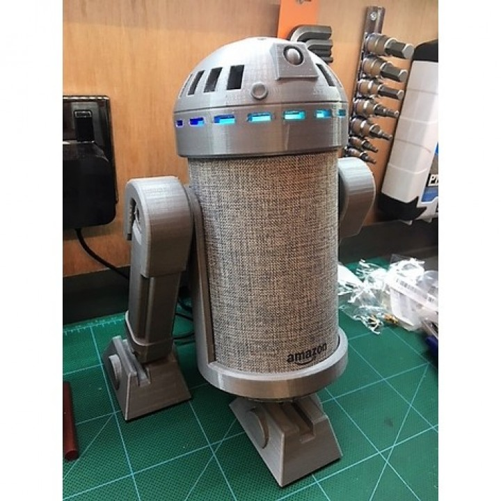 photo relating to R2d2 Printable titled 3D Printable R2D2 v3.0 Amazon Echo Mount as a result of mechanicalmonkey