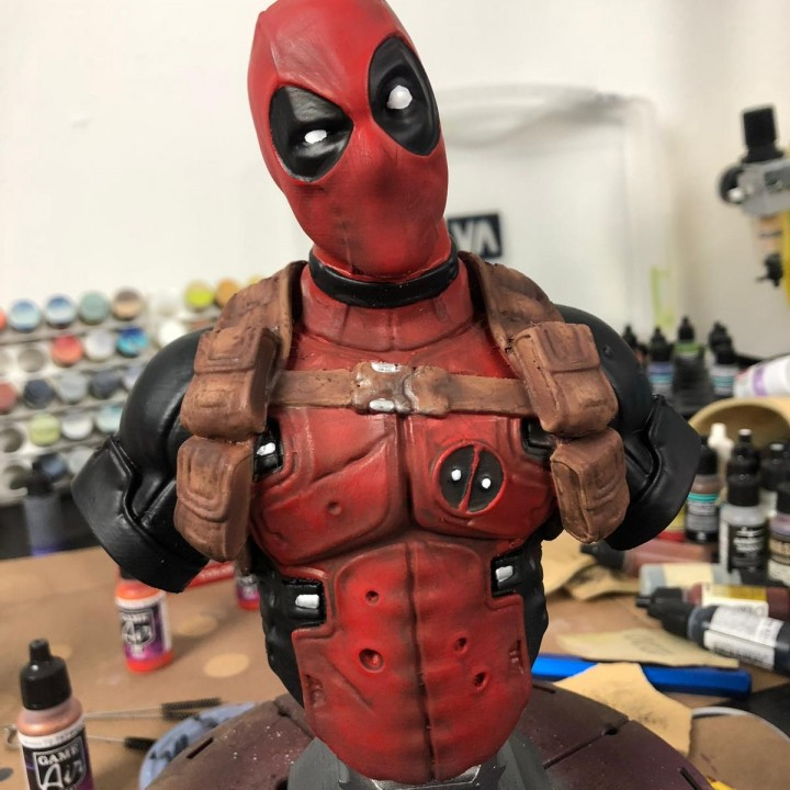 3D Print Of Deadpool Bust (Classic Edition) By 3dmakernoob
