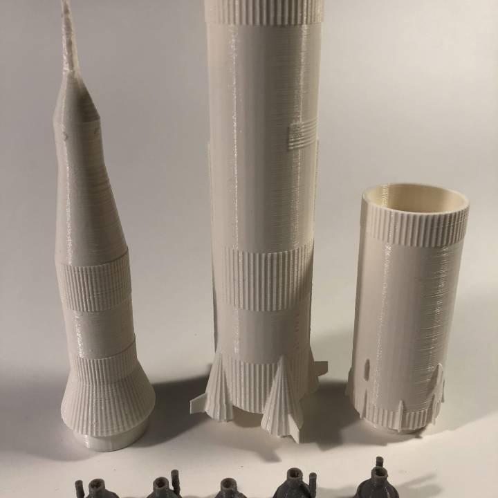 Saturn V Rocket Model