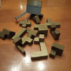 Picture of print of Puzzle Cube with stand