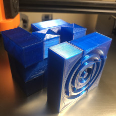 Picture of print of raindrop cube