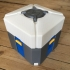 Overwatch loot box in separated colored parts primary image