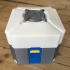 Overwatch loot box in separated colored parts image