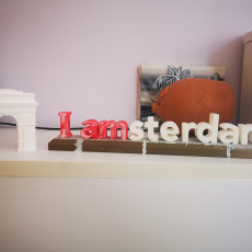 Picture of print of I amsterdam letters