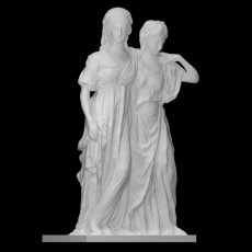 Double statue of the princesses Luise and Friederike of Prussia