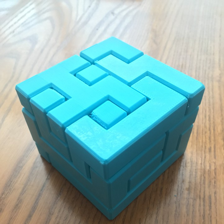 Extremely difficult 5x5x4 puzzle cube