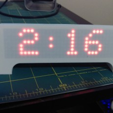 Picture of print of ESP8266 Scrolling Marque Clock This print has been uploaded by Darrien Bessette