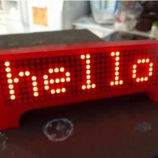 ESP8266 Scrolling Marque Clock