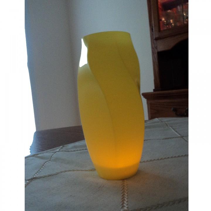 Octagon Twist Vase