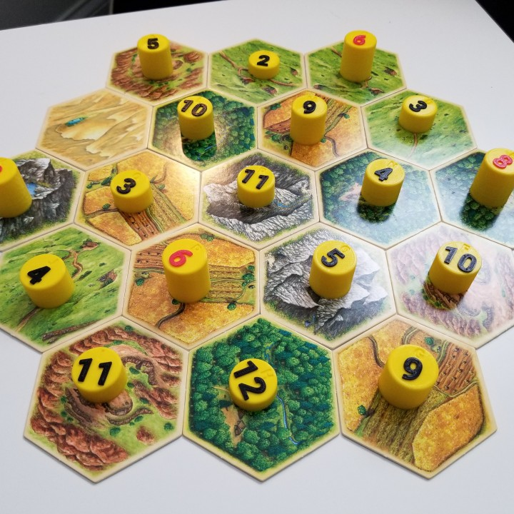 picture relating to Settlers of Catan Printable referred to as 3D Printable Settlers of Catan Device Selection Tokens via