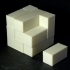 Block cube puzzle print image