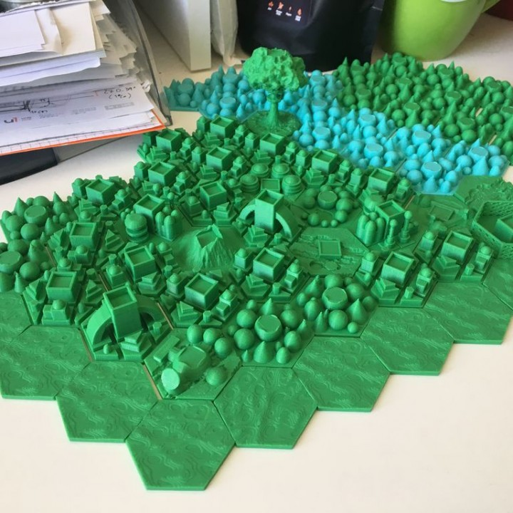 picture regarding 3d Printable Terrain named 3D Printable Terraforming Mars (Boardgame) terrain tiles through