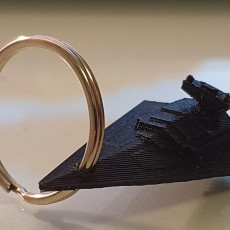 Picture of print of Star Destroyer keychain