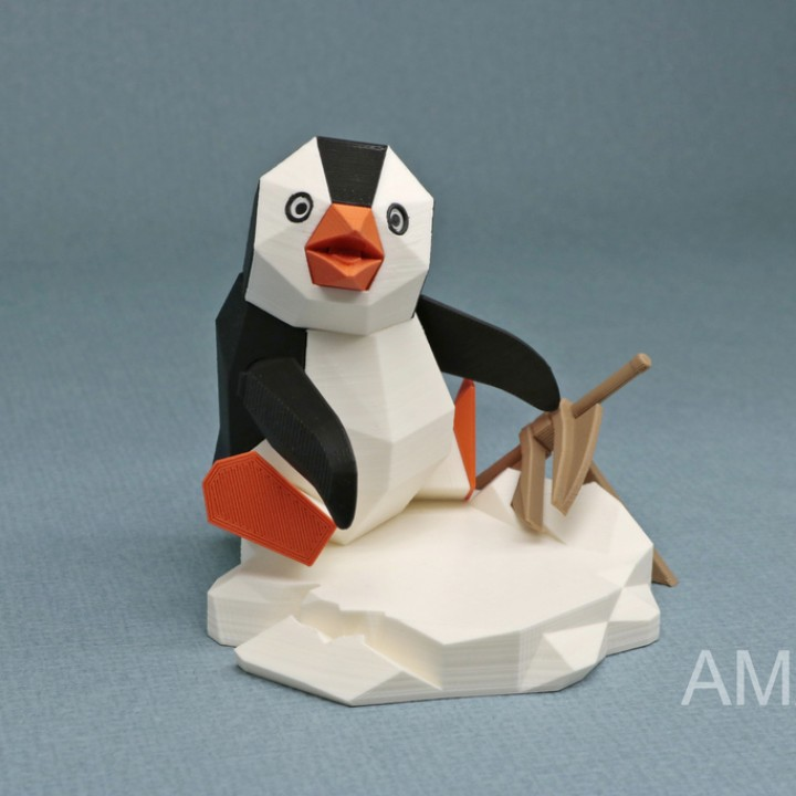 Penguin by the Anchor