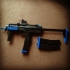 threaded airsoft muzzle brake/flash hider for MP7 image