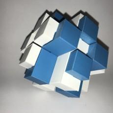 12-pieces interlocking burr puzzle