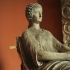 Portrait statue of a seated Roman woman image
