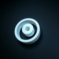 Picture of print of 608 Skate Bearing using Airsoft beads