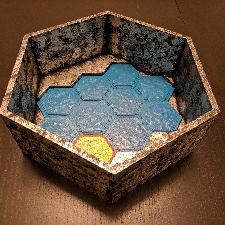photograph about Settlers of Catan Printable called 3D Printable Settlers of Catan 3d Box by means of Keith Shank