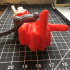 Severed Deadpool hand F***you print image