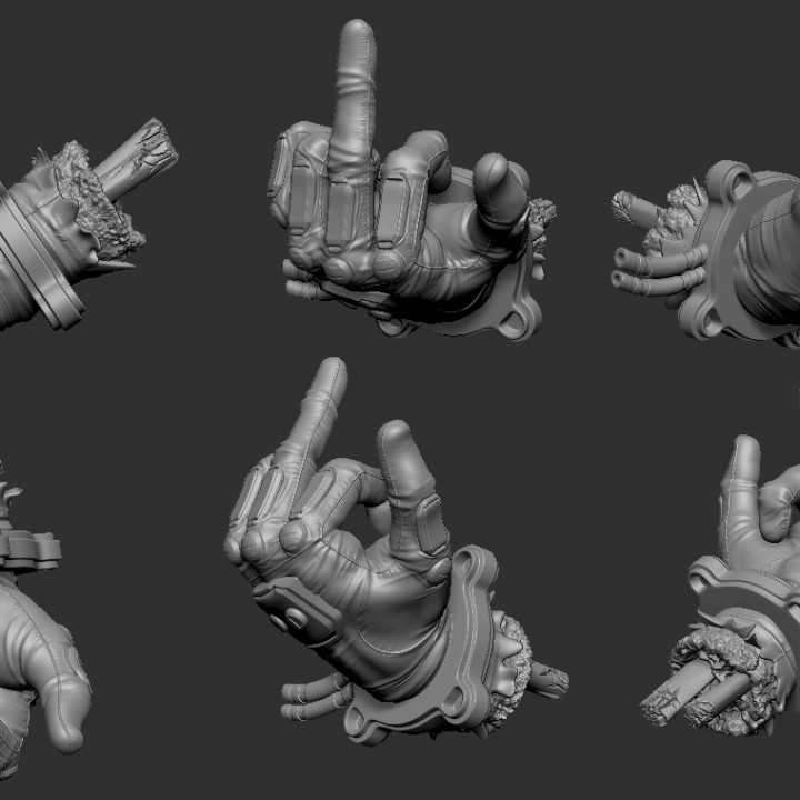 Severed Deadpool hand F***you